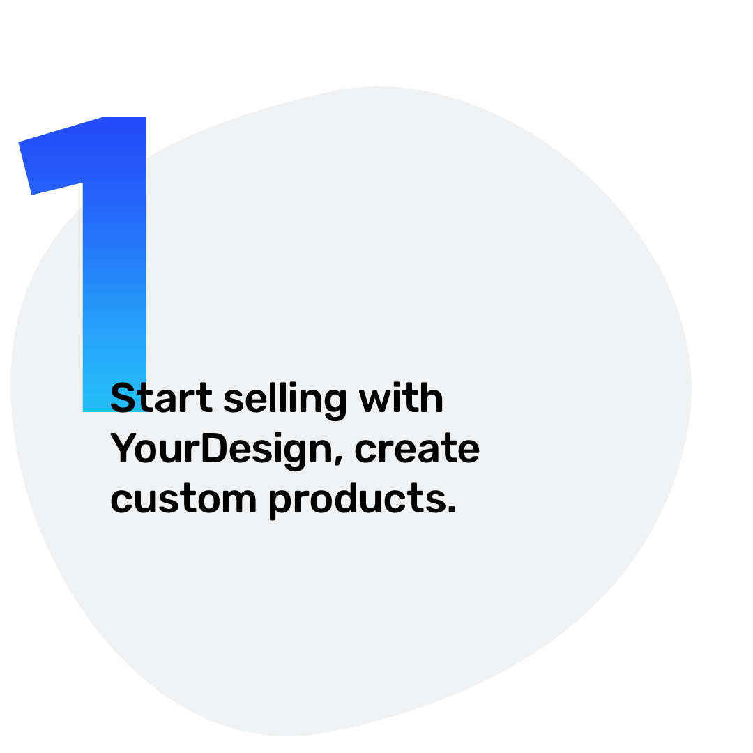 1. Start selling with YourDesign, create custom products.